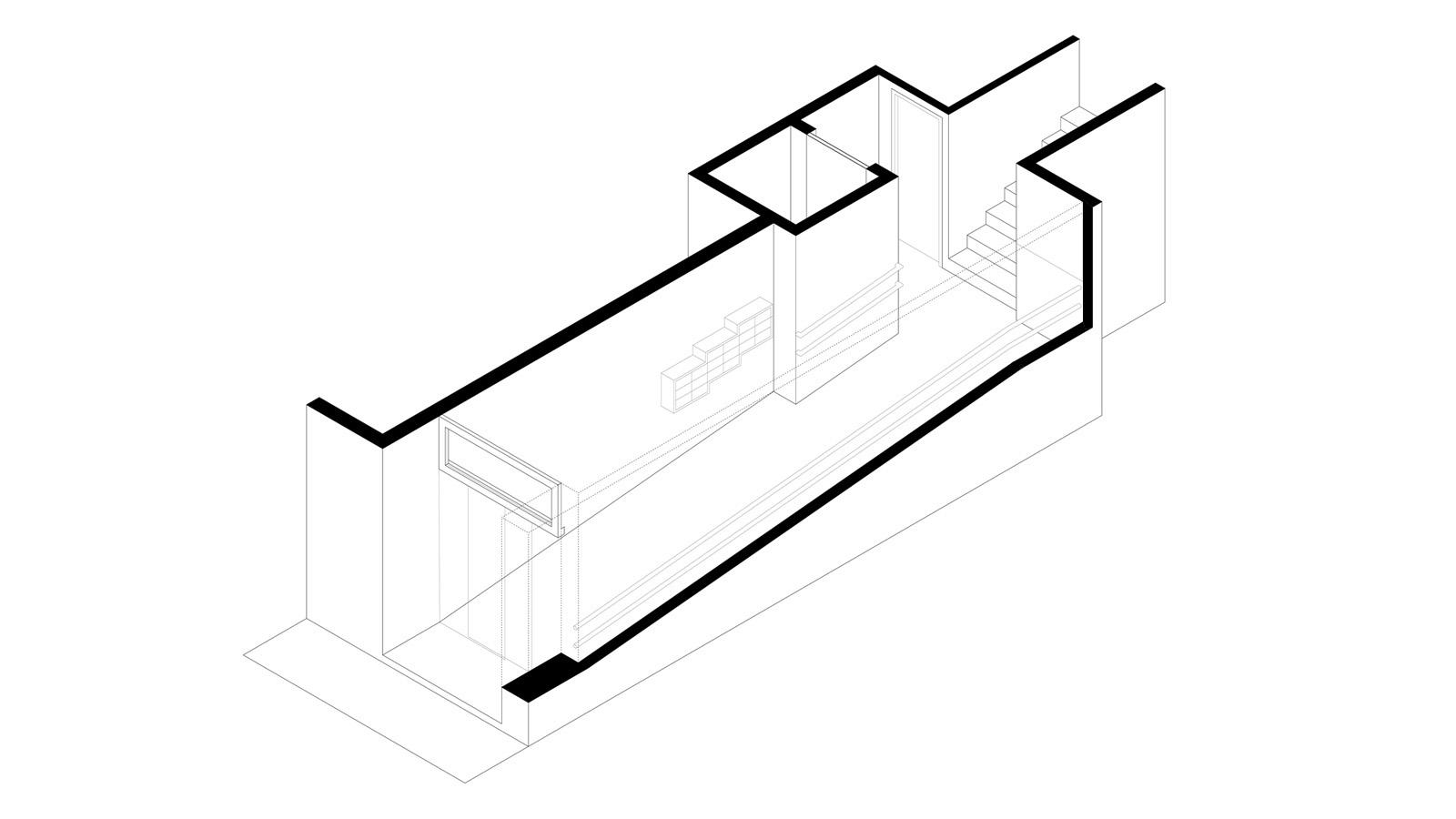 Accesibilidad portal D.B. Axonometría.